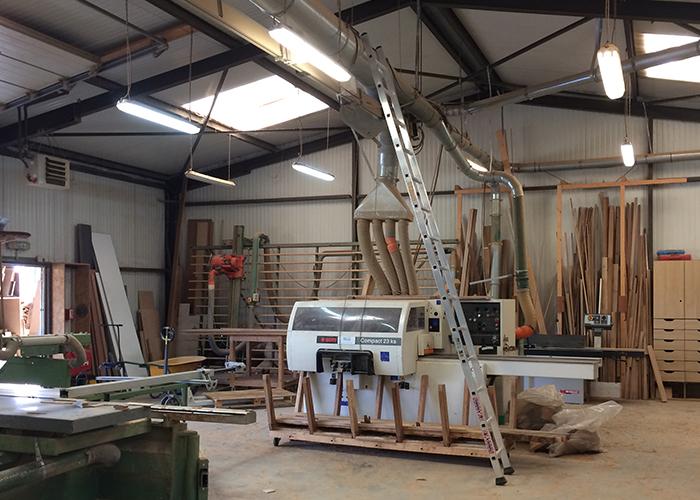Atelier de fabrication de menuiseries d'agencement à Ligré (37)